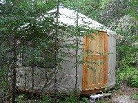 outside a yurt